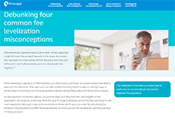 Debunking four common fee levelization misconceptions.  Thumbnail image of fee levelization white paper.